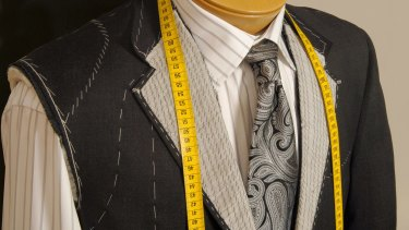 A correctly tailored suit takes weeks and several fittings to produce.