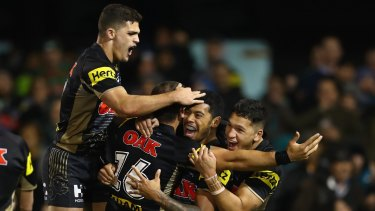 Narrow win: Panthers coach Anthony Griffin was not impressed with the margin of victory against the Rabbitohs after squandering a comfortable lead late in the game.