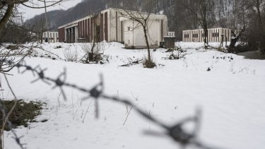The now abandoned warehouse where over 1000 Bosnian Muslim men and boys were killed in July 1995 in the village of Kravica on the outskirts of Srebrenica.