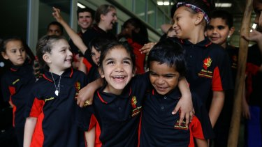 The Mount Druitt Indigenous Youth Choir sings in Dharug.