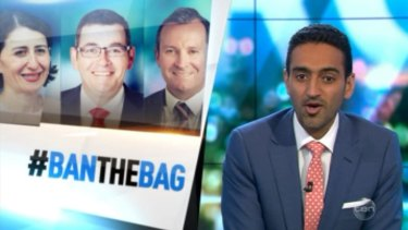State premiers Gladys Berejiklian, Daniel Andrews and Mark McGowan have been challenged to ban plastic bags.