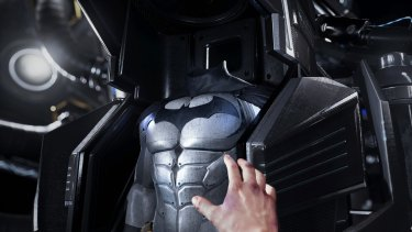 Getting suited up in <i>Batman: Arkham VR</i>.