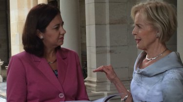 Premier Annastacia Palaszczuk receives Dame Quentin Bryce's report into domestic violence, Not Now, Not Ever: Putting an End to Domestic and Family Violence in Queensland.