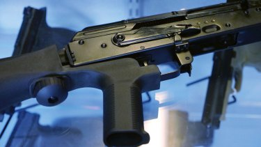 "A ""bump stock"" attached to a semi-automatic rifle allows it to mimic fully automatic weapons."