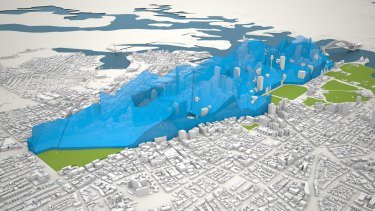 Where the highest towers can be built under the new City of Sydney strategy.