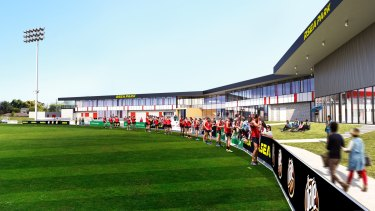 An artist's impression of the new facility at Moorabbin.