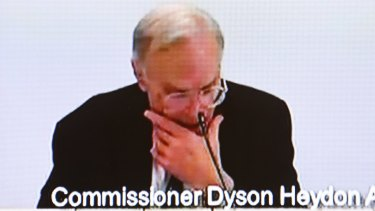 Many questions: ACTU lawyers forced Dyson Heydon to table all his correspondence relating to his now cancelled appearance at the Sir Garfield Barwick lecture later this month.