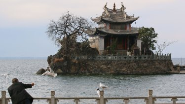Little Putuo Temple on Erhai Lake is a big tourist drawcard in the 1000-year-old fishing village.