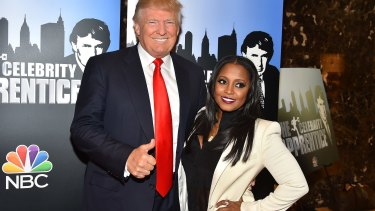 Donald Trump and Keshia Knight Pulliam, ahead of the actress being fired from <i>Celebrity Apprentice</i>.