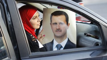 A celebration of President Bashar al-Assad's birthday in Damascus in 2013.