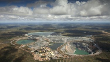 The Ranger uranium mine in Kakadu National Park, with its tailing dams almost full after the wet season.