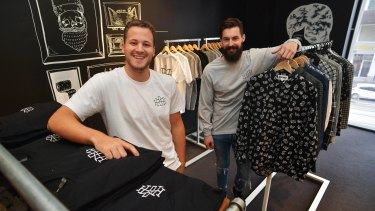 Nick Pearce and Marcus Crook are about to open HoMie, a clothing shop where the profits go to the homeless.