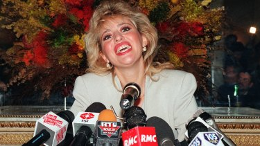 Alessandra Mussolini resigns from the right-wing Alleanza Nazionale party, which descends from the Fascist regime of her grandfather, Benito Mussolini, in Rome in 1996.