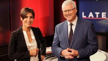 Program loss: Lateline's Emma Alberici and Tony Jones.