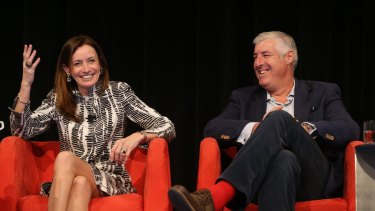 Blythe Masters, the CEO of Digital Asset Holdings and Cameron Clyne.