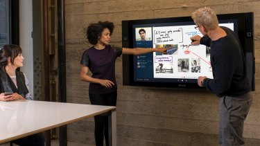 "The Surface Hub is being billed as a ""large-screen collaboration device"" (think the world's largest tablet)."