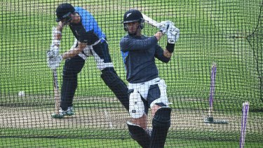 Painful: Ross Taylor was injured during a net session ... facing a leg spinner.