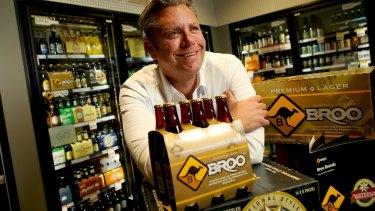 Drink to that: Broo Executive Chairman Kent Grogan.