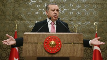 Turkish President Recep Tayyip Erdogan: argues only greater powers for the presidency can solve Turkey's crises.