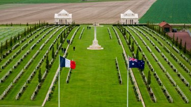 The Australian National Memorial to the dead of the Great War, Villers-Bretonneux, France.
