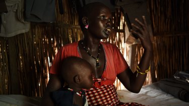 Keeping malnutrition at bay is  a major problem for mothers and their children, such as Martha Nyambol, 28, and her seven-month-old baby Nyall Koang.