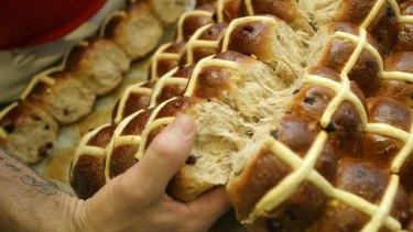 Hot cross buns: A highlight of Easter food.