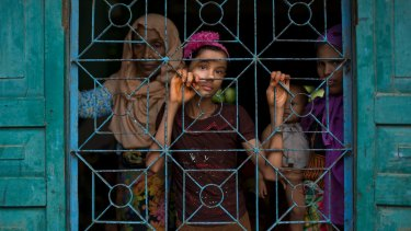 Newly arrived Rohingya Muslims find a shelter in Bangladesh.