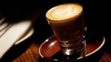 A generic latte coffee shot. 22 March 2012. The Age Epicure. Photo:EDDIE JIM.