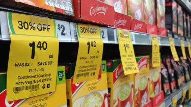 While Woolworths' yellow specials tickets are prolific, customers have complained the orange rewards tickets are few and far between.