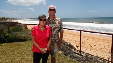 """""""Every time there is a storm or high seas we are very concerned about our property and our personal safety"""": Deborah Hopkins, with husband Mike."""