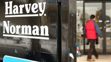 """Harvey Norman has posted a """"record-breaking result"""", its chairman Gerry Harvey said."""