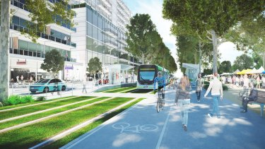 An artist's impression of the new suburb of Fishermans Bend.