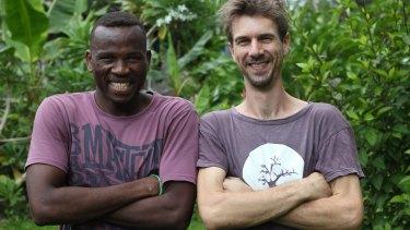 Abdul Aziz Muhamat with Michael Green in Lorengau, July 2016.