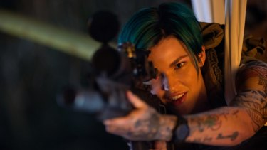 Taking aim: Ruby Rose in the new <i>xXx</i> action thriller.