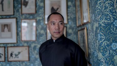"Guo Wengui at the prestigious Mark's Club in Mayfair, London. Interpol has issued a ""red notice"" seeking Mr Guo's arrest."