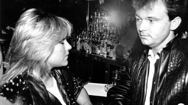 Peter Foster with British model Samantha Fox.