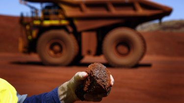 Iron ore prices had the largest quarterly loss since 2009 in the three months through March.