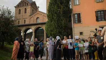 Families of the men believed responsible for the Spanish terrorist attacks gather with the local Muslim community in Ripoll to denounce terrorism.