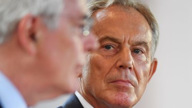 Former prime ministers Sir John Major and Tony Blair have been campaigning against Brexit in Northern Ireland.