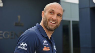 Chris Judd arrives at the club on Tuesday.