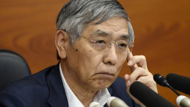 Bank of Japan governor Haruhiko Kuroda said he would maintain his massive stimulus program aimed at igniting inflation.