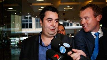 Vincent Fedele leaves the Independent Commission Against Corruption after giving evidence.