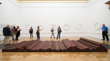 Ai Weiwei's 2004 work <em>Bed</em>, made with pieces of tieli wood from dismantled temples of the Qing dynasty.