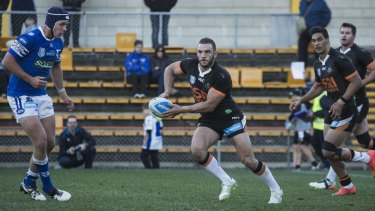 Relegation: NSW hooker Robbie Farah playing NSW Cup against the Newtown Jets on Saturday.