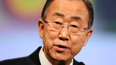 """UN Secretary-General Ban Ki-Moon: """"All of us most do more, the global thermostat continues to rise."""""""
