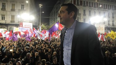 """""""Greece will now move ahead with hope, and reach out to Europe, and Europe is going to change"""": Syriza leader Alexis Tsipras."""