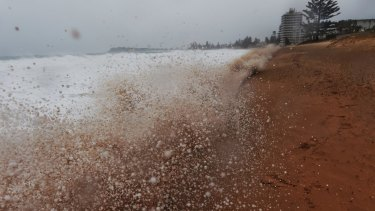 Massive surf caused beach erosion at Narrabeen beach, on Sydney's northern beaches in April.
