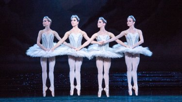 The linked prancing sequences of the four little cygnets in white tutus is steeped in tradition.