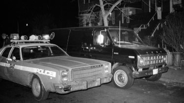 A stolen van believed by New York police to have been used in a robbery at Kennedy Airport before it was searched by forensic investigators in 1978.