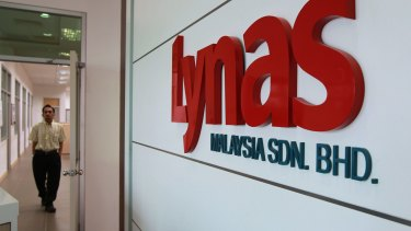 Lynas has been hit by the downturn in rare earths prices as it is seeking to ramp up production at its Malaysian processing facility.